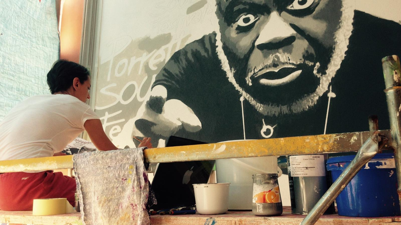 Street art Porretta Soul Festival, Archivio di porrettasoulfestival.it, CC BY NC ND 4.0