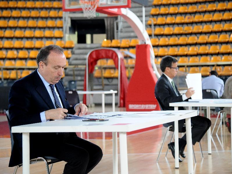 I giurati del concorso per il progetto del nuovo Museo del Basket
